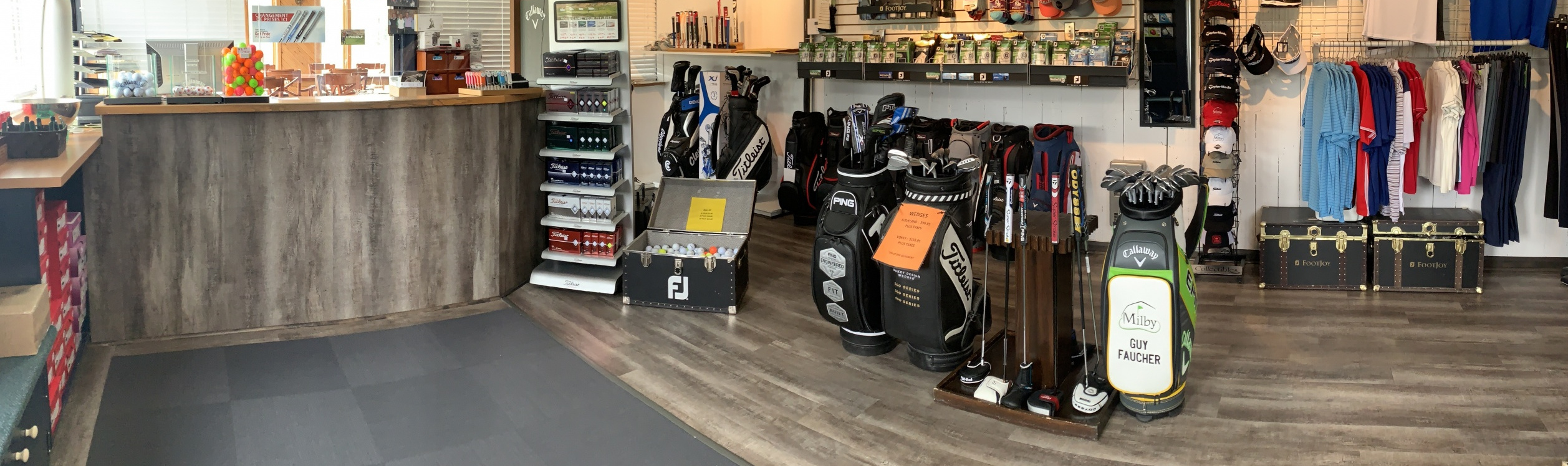 Boutique du pro golf Milby Guy Faucher