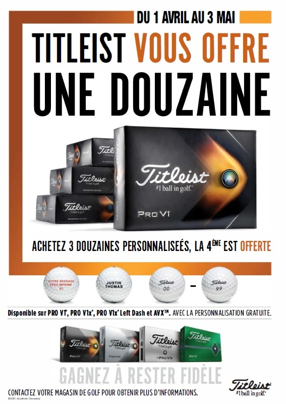 Titleist image balles personnalisees